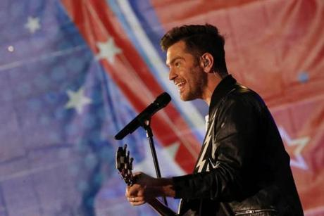 Andy Grammer performs during the Boston Pops Fireworks Spectacular.
